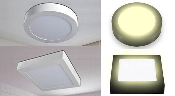 Có nhiều mẫu mã, kiểu dáng đèn LED ốp trần khác nhau